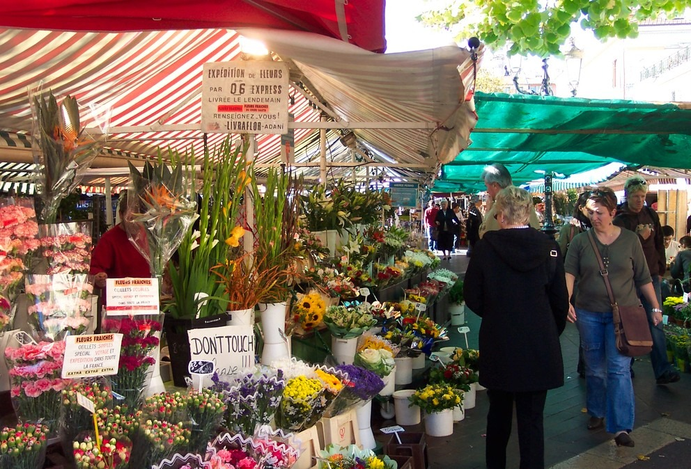 nice marché et journée libre Sainte Agnès nap voyages